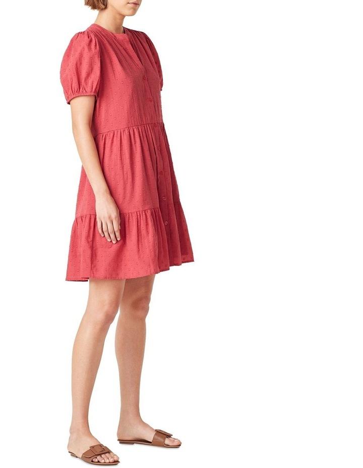 Cotton Dobby Puff Sleeve Dress image 2