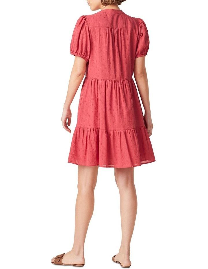 Cotton Dobby Puff Sleeve Dress image 3