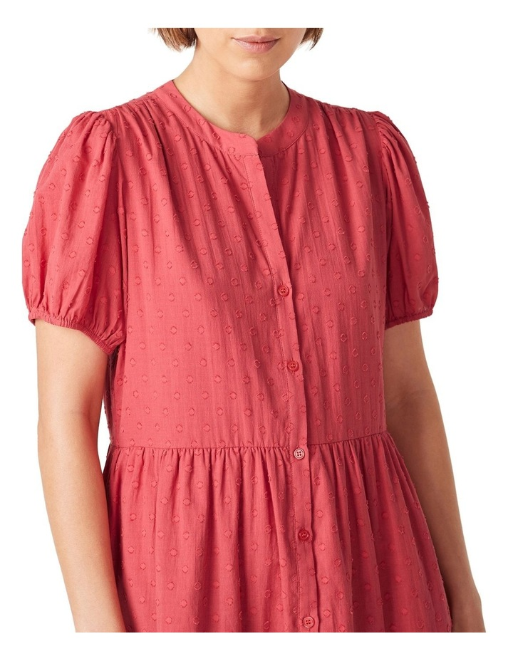 Cotton Dobby Puff Sleeve Dress image 4