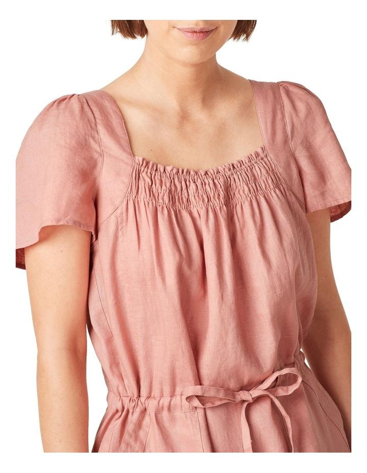 Linen Shirred Dress image 4