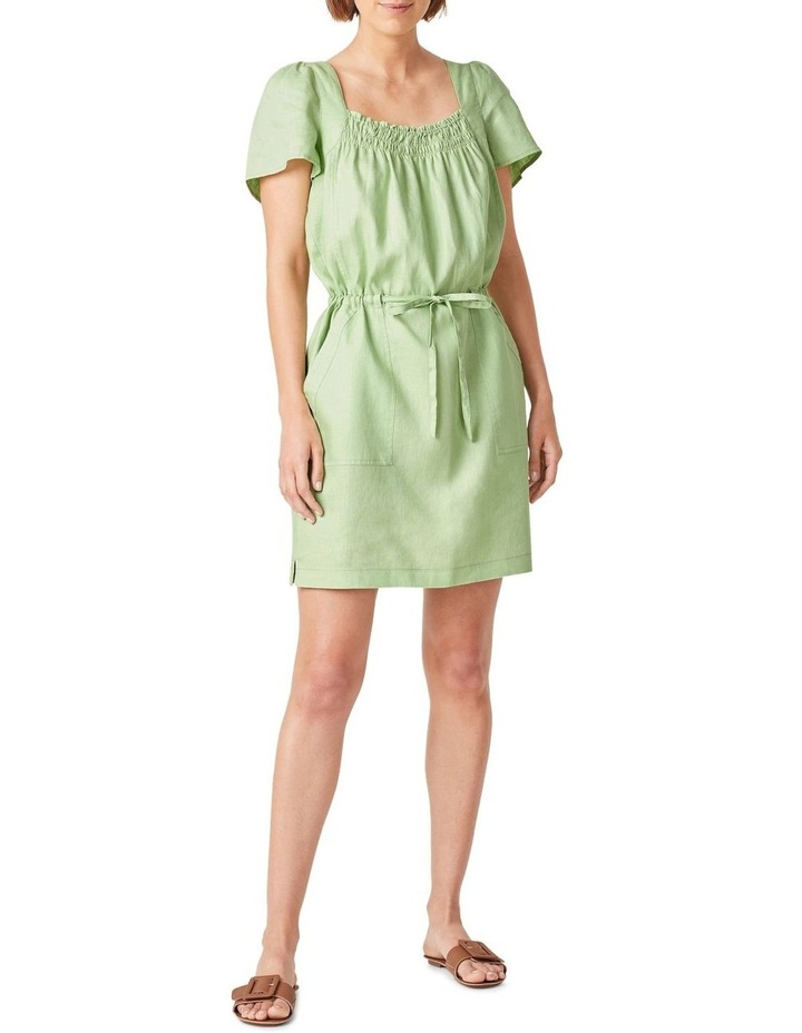 Linen Shirred Dress image 1