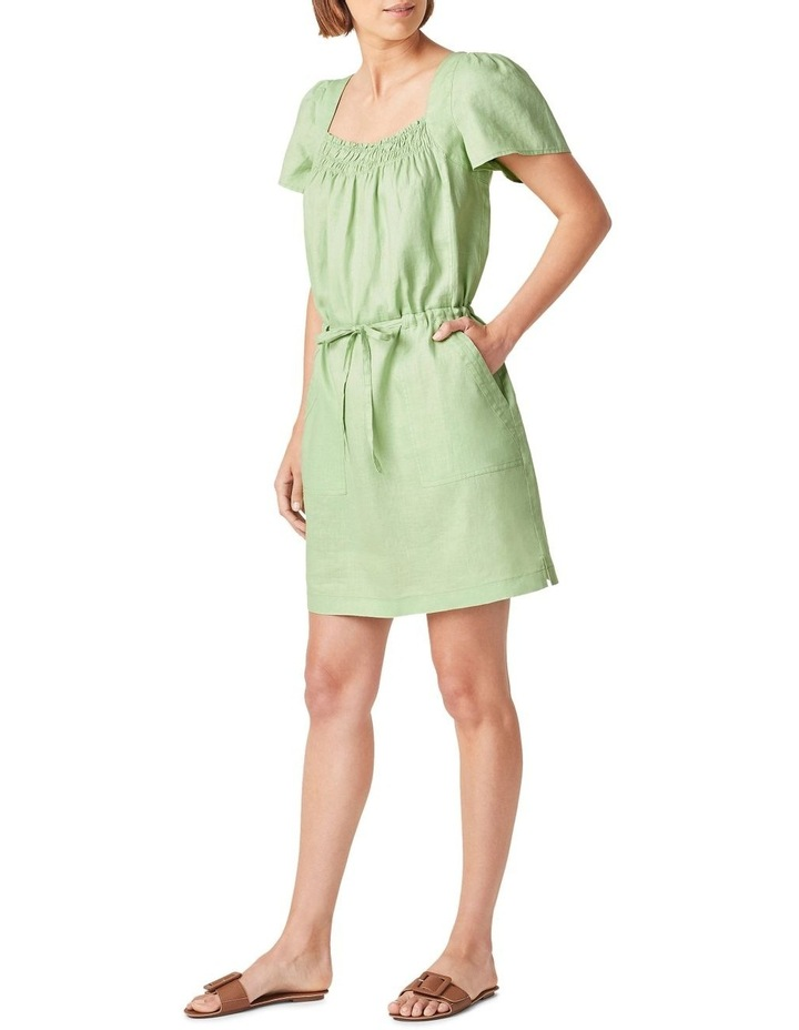 Linen Shirred Dress image 2
