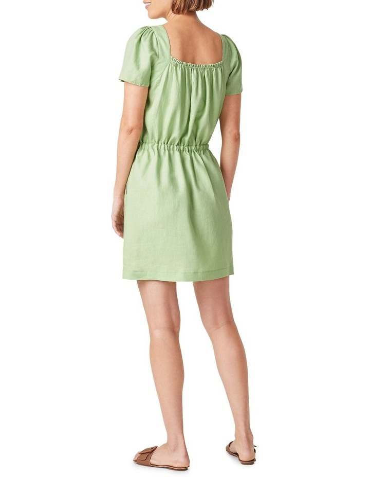 Linen Shirred Dress image 3