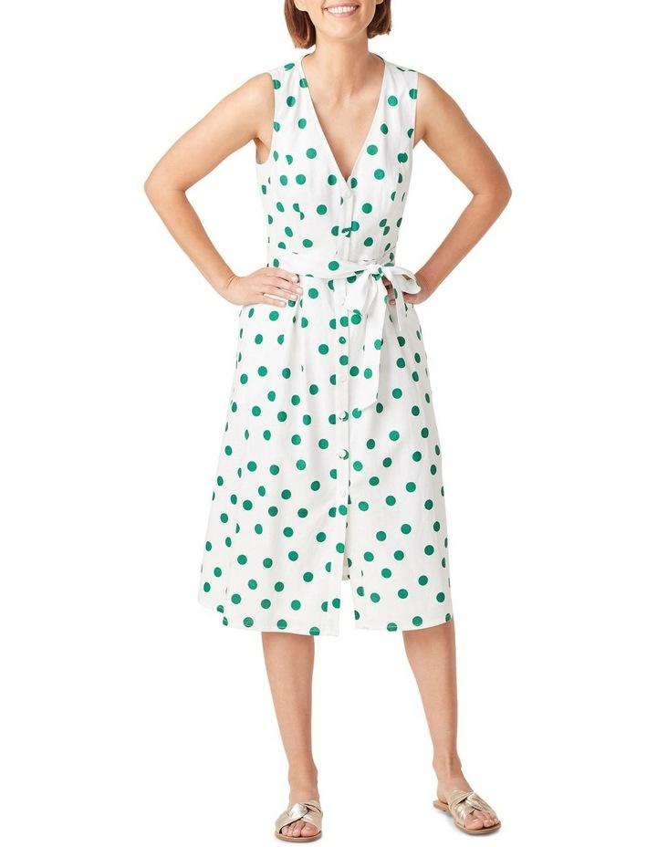 Spot Linen Button Through Dress image 1