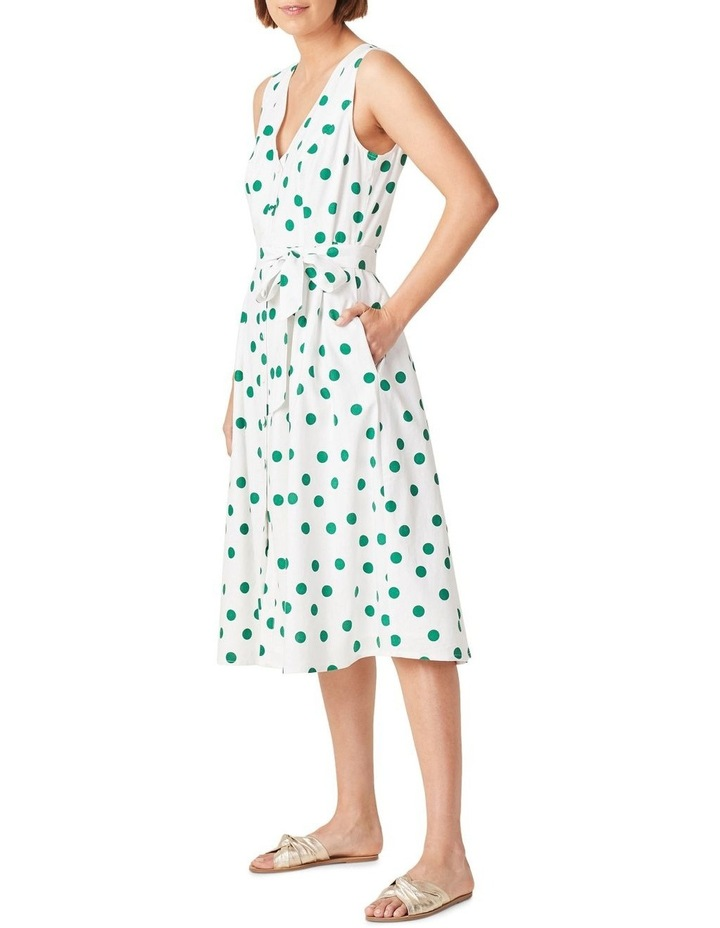 Spot Linen Button Through Dress image 2