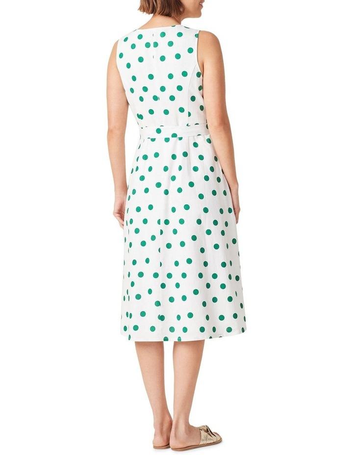 Spot Linen Button Through Dress image 3
