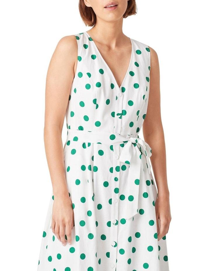 Spot Linen Button Through Dress image 4