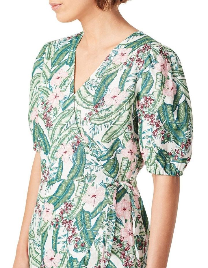 Linen Wrap Dress image 4