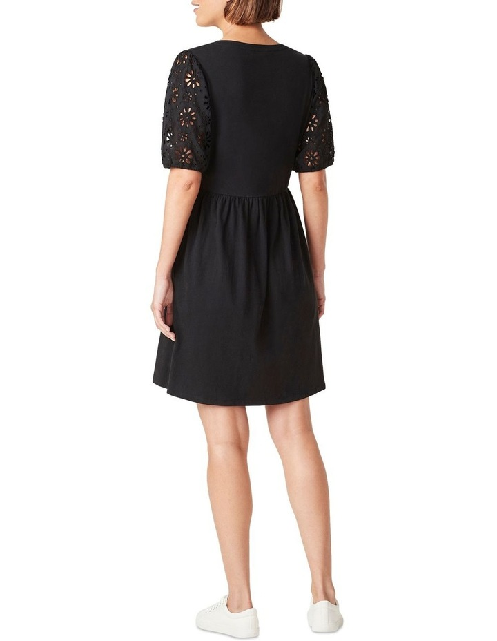 Broderie Sleeve Jersey Dress image 3