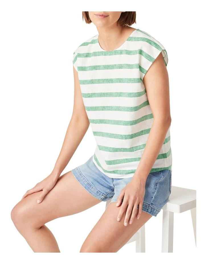 Linen Stripe Shell Top image 1