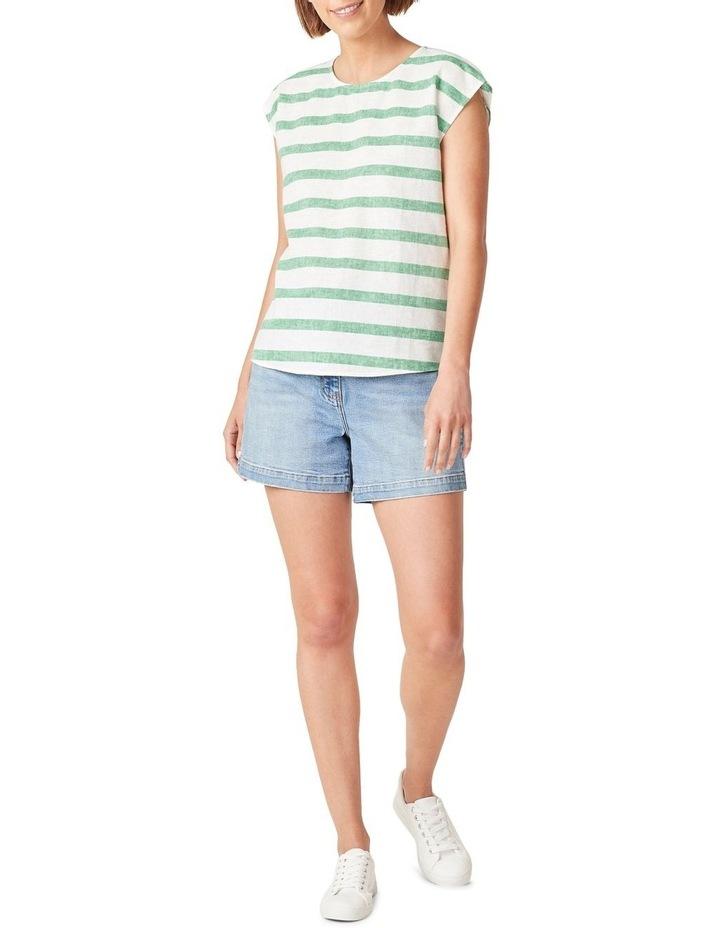 Linen Stripe Shell Top image 2