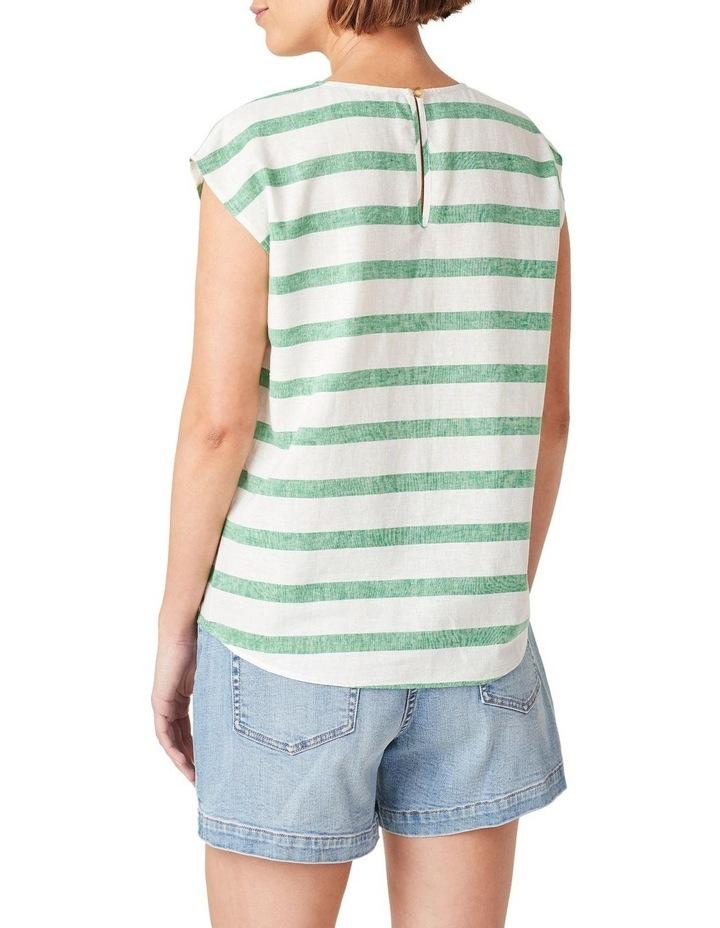 Linen Stripe Shell Top image 3