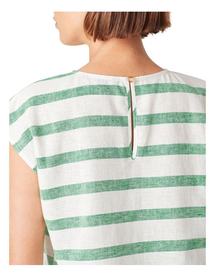 Linen Stripe Shell Top image 4