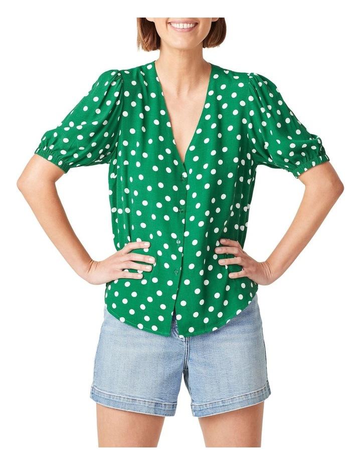 Puff Sleeve Spot Shirt image 1