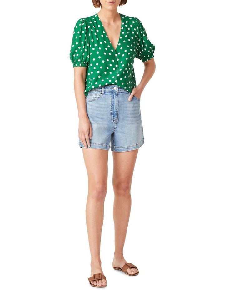 Puff Sleeve Spot Shirt image 2