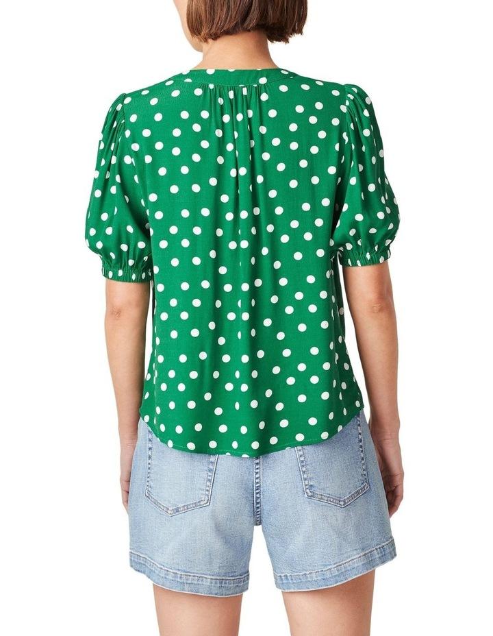 Puff Sleeve Spot Shirt image 3