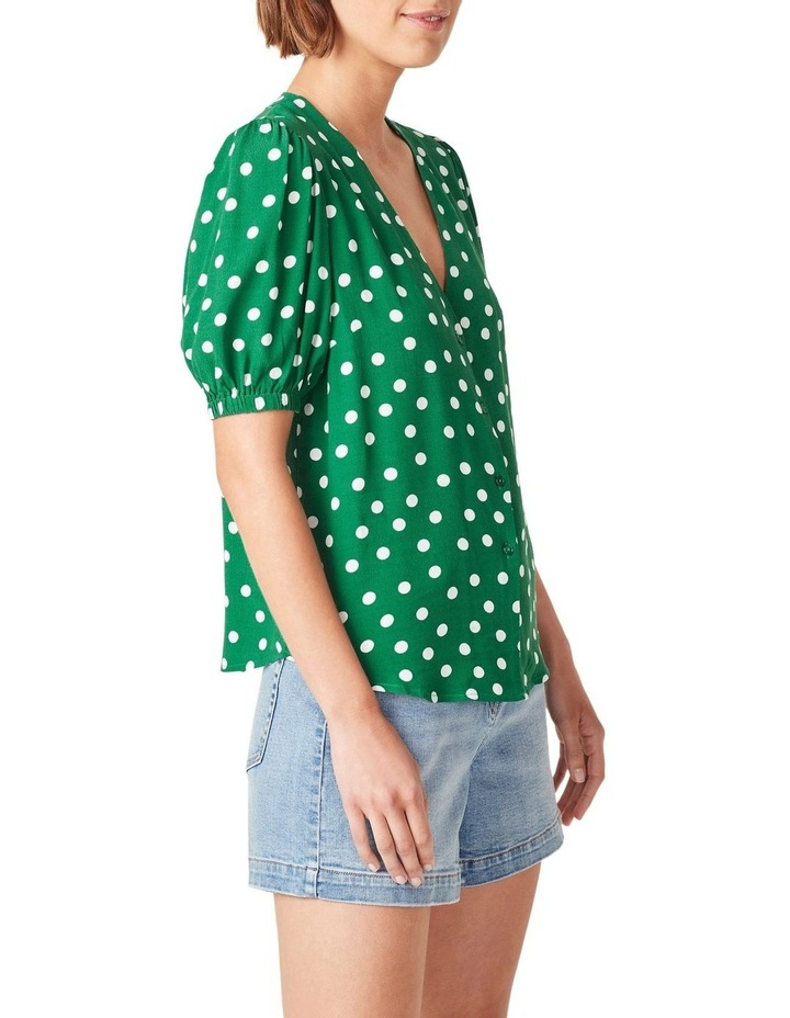 Puff Sleeve Spot Shirt image 4