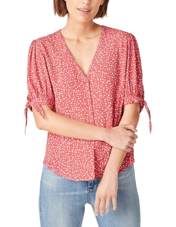 Tie Sleeve Floral Shirt image 1
