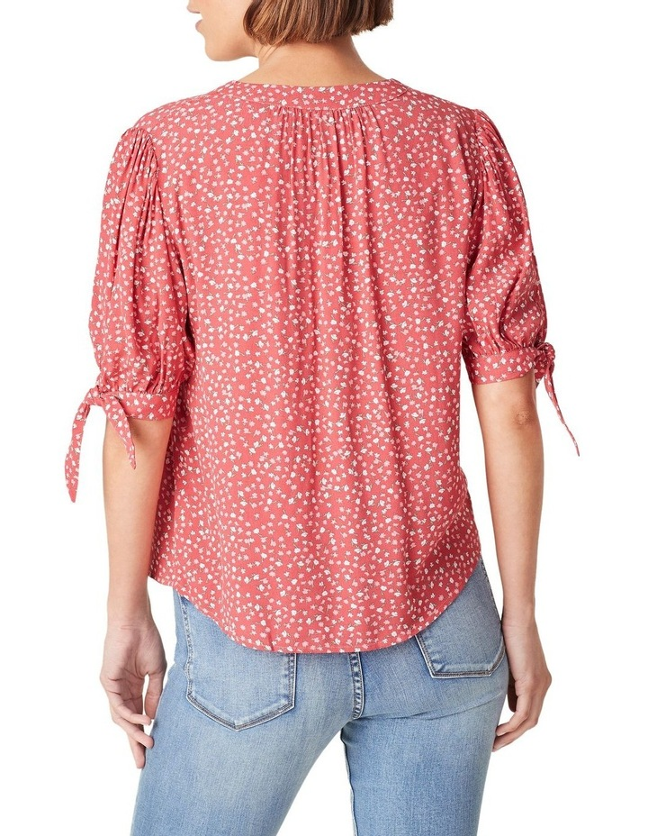 Tie Sleeve Floral Shirt image 3