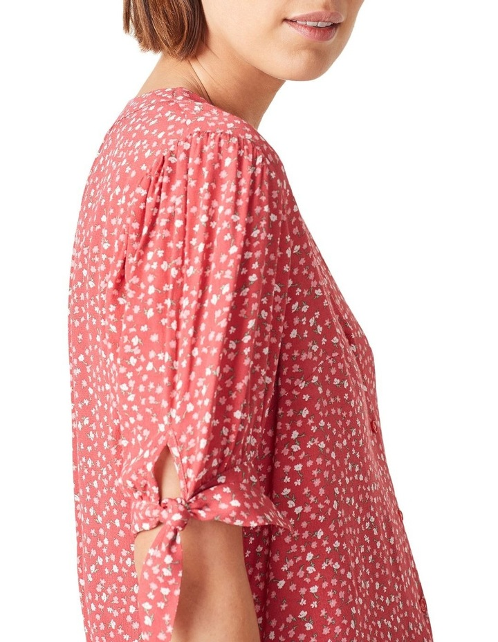 Tie Sleeve Floral Shirt image 4