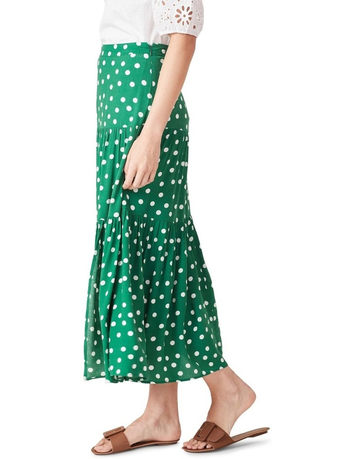 Spot Tiered Midi Skirt image 1