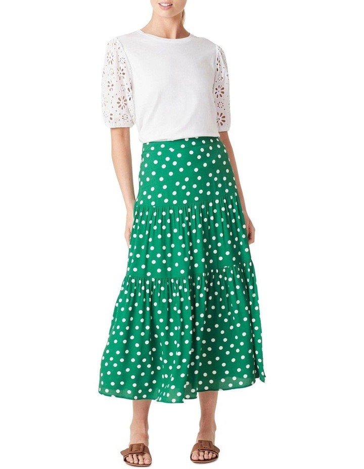 Spot Tiered Midi Skirt image 2