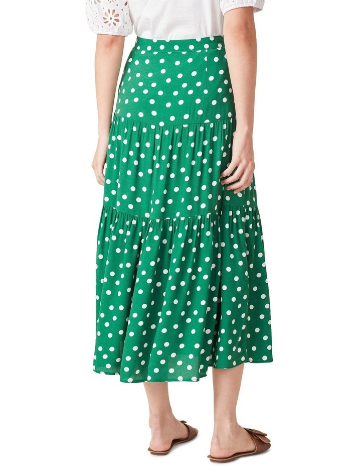 Spot Tiered Midi Skirt image 3
