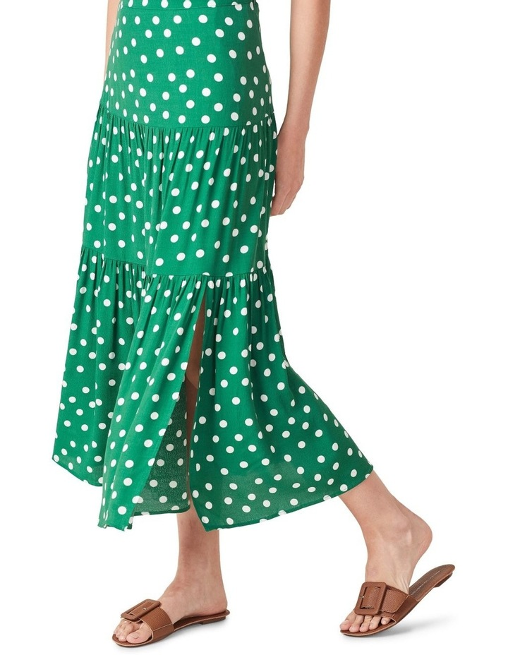 Spot Tiered Midi Skirt image 4