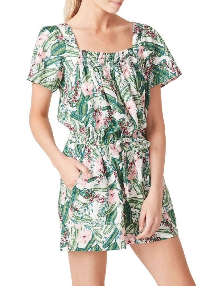 Linen Shirred Playsuit image 1