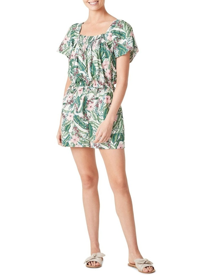 Linen Shirred Playsuit image 2
