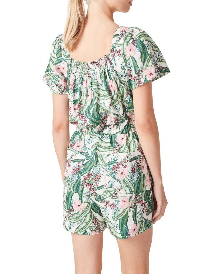 Linen Shirred Playsuit image 3