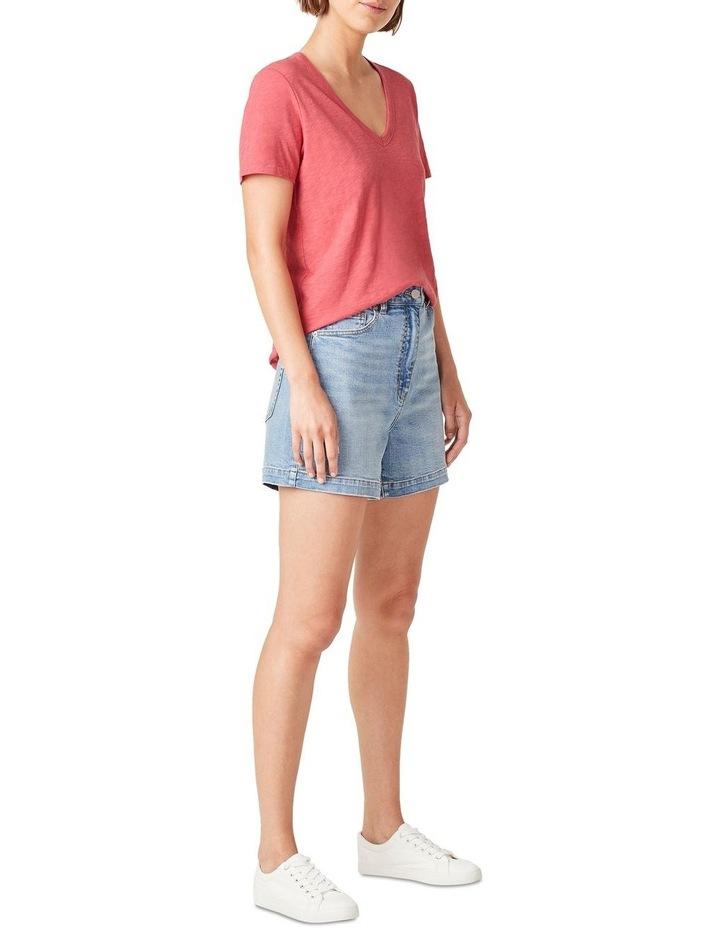 Slub Jersey V Neck T Shirt image 2