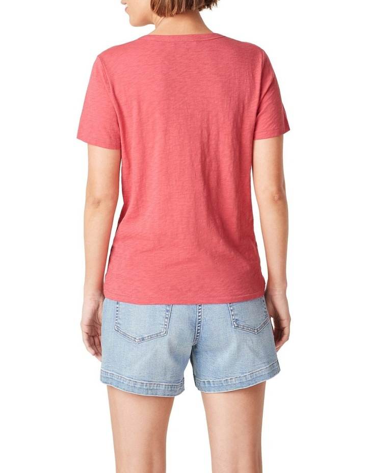 Slub Jersey V Neck T Shirt image 3