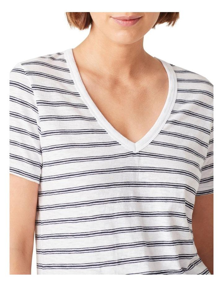 Slub Jersey V Neck T Shirt image 4