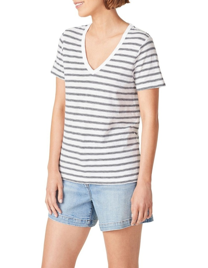 Slub Jersey V Neck T Shirt image 5
