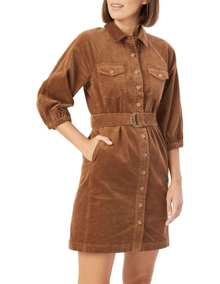 Corduroy Puff Sleeve Dress image 1