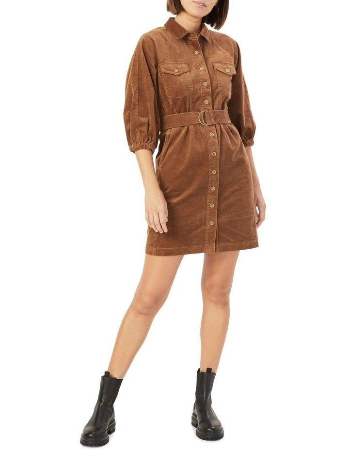 Corduroy Puff Sleeve Dress image 2