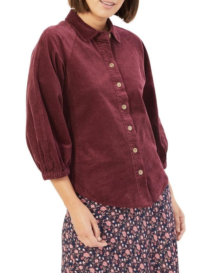 Corduroy Puff Sleeve Shirt image 1