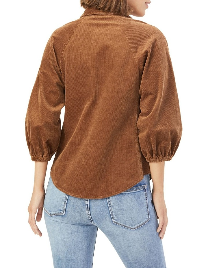 Corduroy Puff Sleeve Shirt image 3