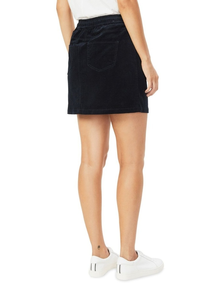 Cord Stretch Casual Skirt image 3