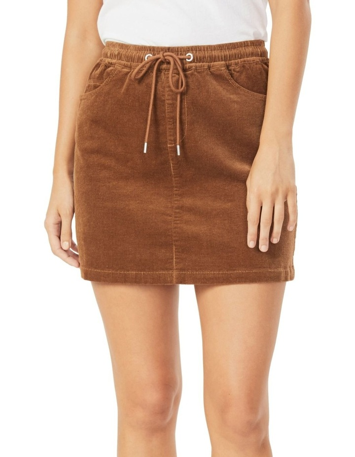 Cord Stretch Casual Skirt image 1