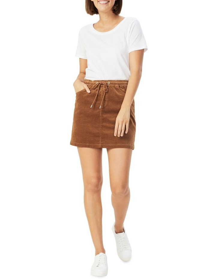 Cord Stretch Casual Skirt image 2