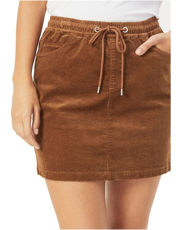 Cord Stretch Casual Skirt image 4