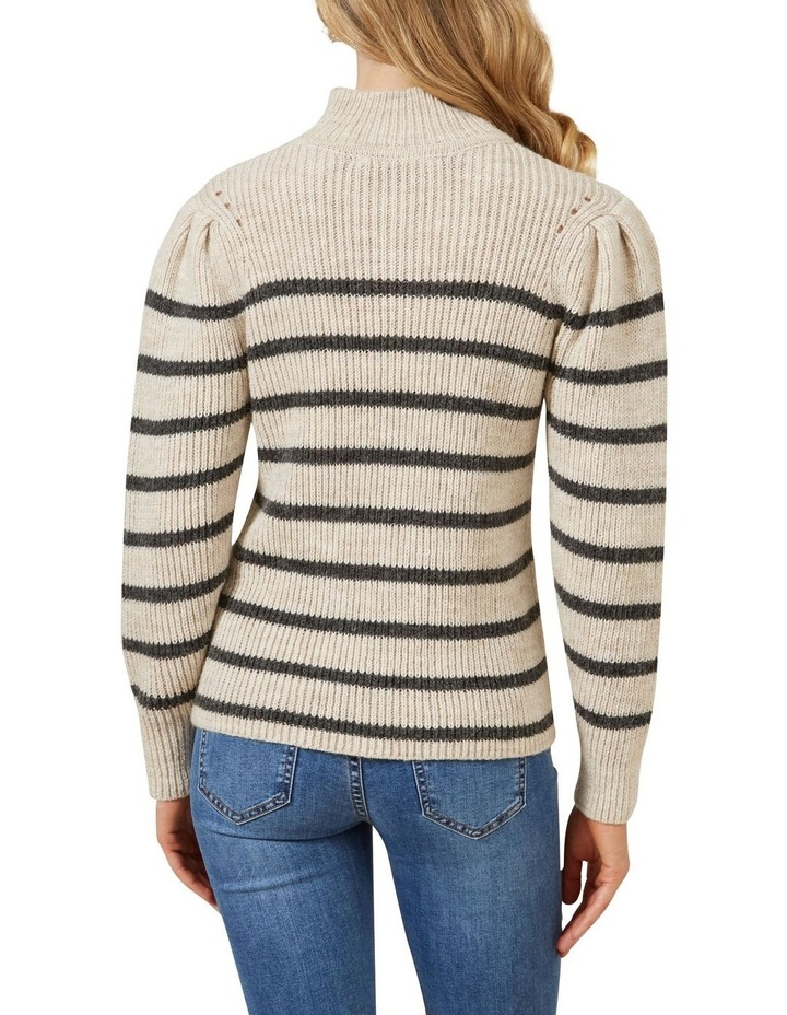 Striped Balloon Sleeve Knit image 3