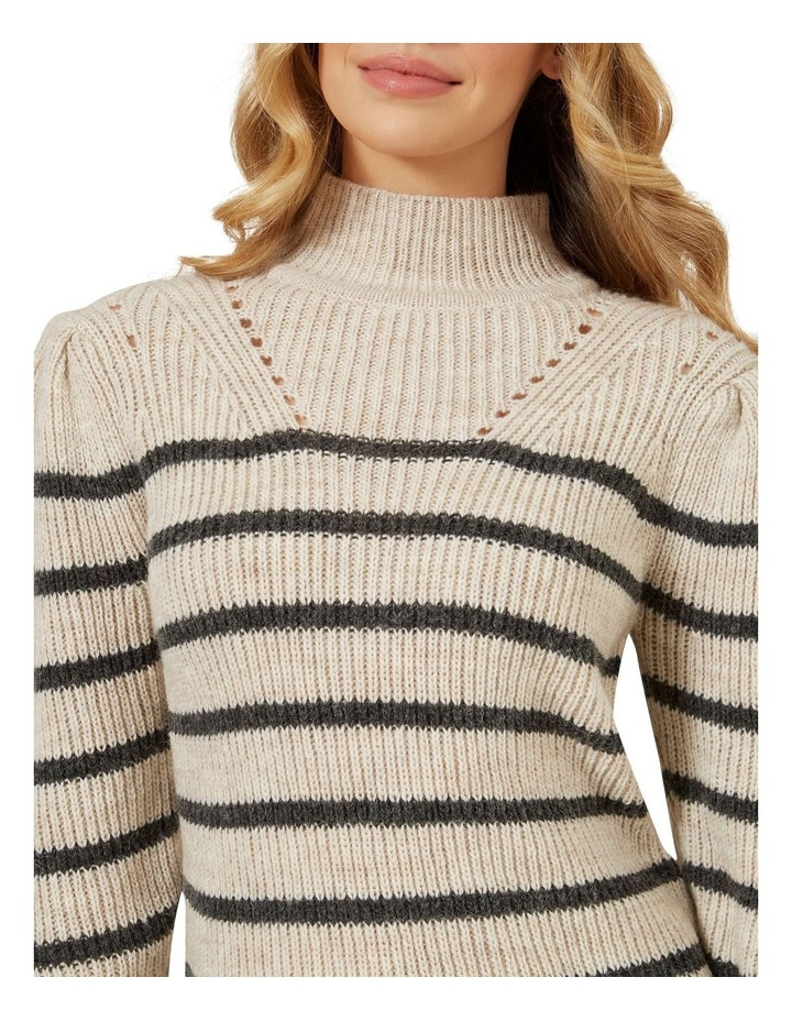 Striped Balloon Sleeve Knit image 4
