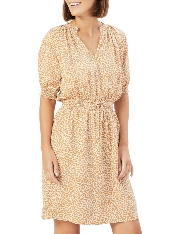 Animal Shirred Dress image 1