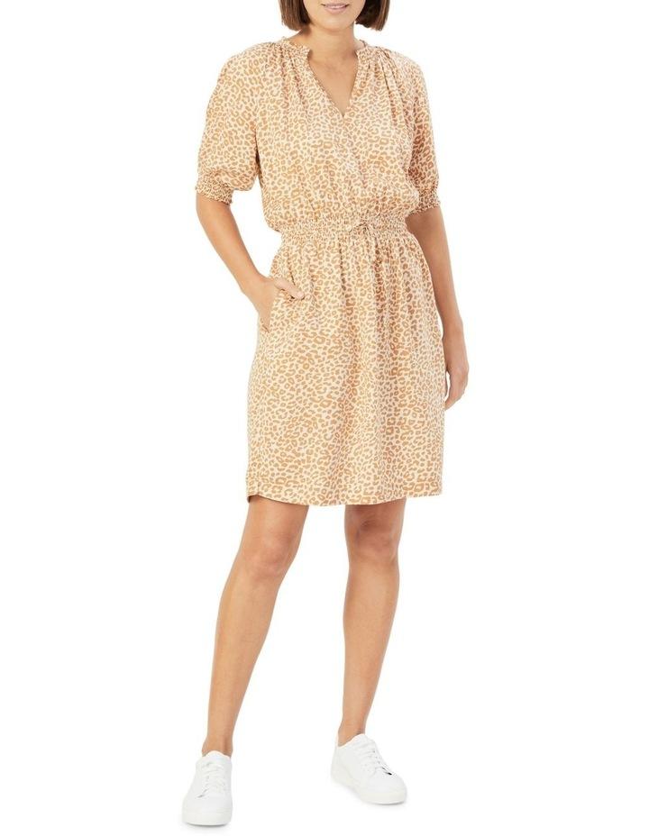 Animal Shirred Dress image 2
