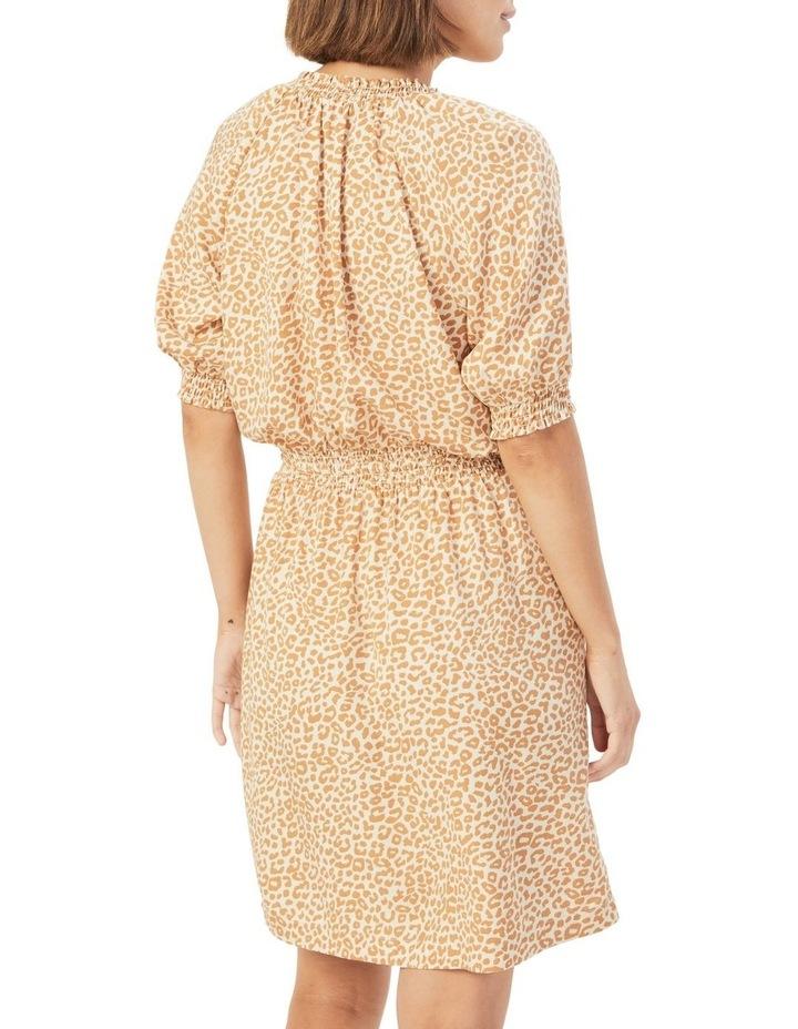Animal Shirred Dress image 3
