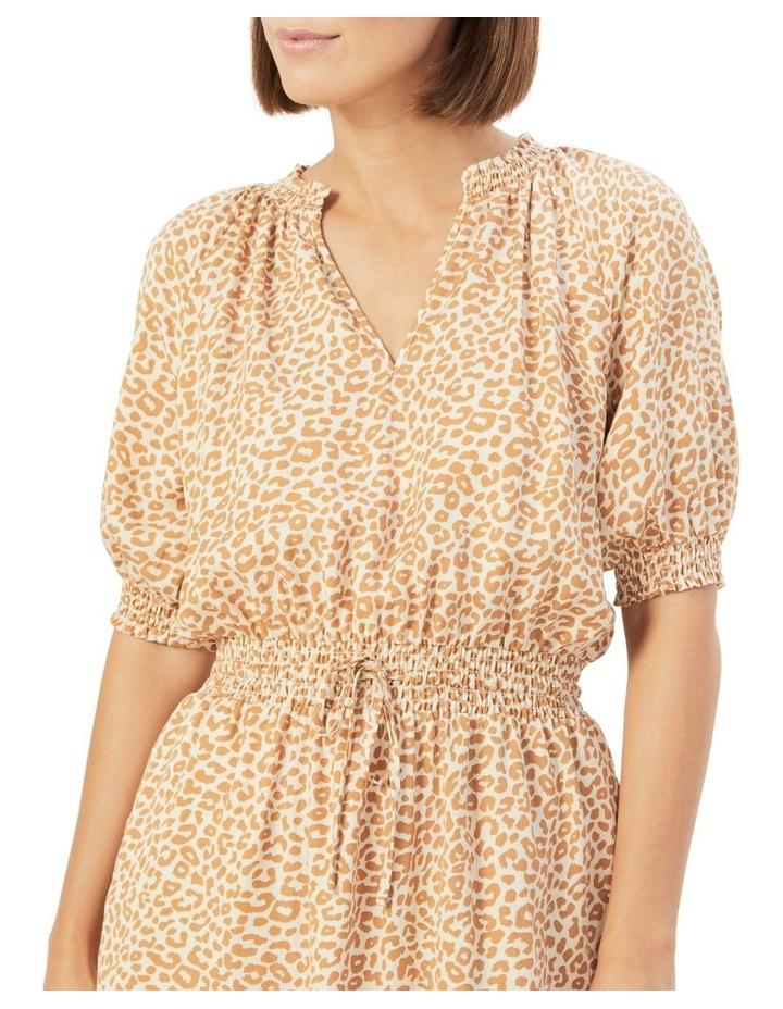 Animal Shirred Dress image 4