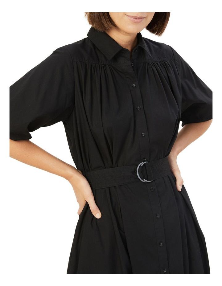 Puff Sleeve Midi Dress image 4